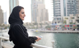 Young and beautiful Emirati woman Royalty Free Stock Images