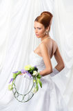 Young, beautiful and emotional bride Royalty Free Stock Photo