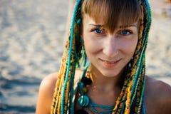 Young beautiful ethnic style girl stock photography