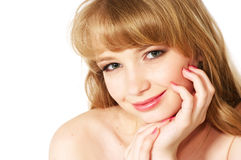 Young beautiful face. Of teenage girl Stock Images