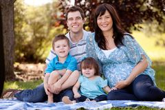 Young Beautiful Family Royalty Free Stock Photography