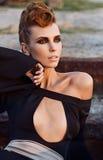 Young beautiful fashion model stock photo