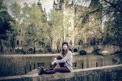 Young beautiful fashion woman Stock Photography