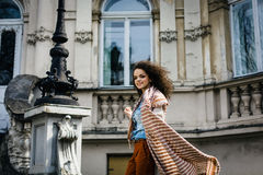 Young beautiful fashionable girl stock images