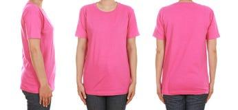 Women 39 s blank pink t shirt template stock photos 19 images for Pink t shirt template