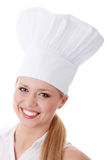 Young beautiful female cook Royalty Free Stock Photo