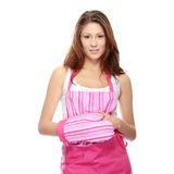 Young beautiful female cook Stock Photos