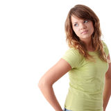 Young beautiful female teenager Stock Photography