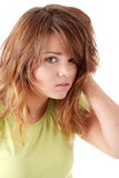 Young beautiful female teenager Royalty Free Stock Image