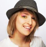 Young beautiful female teenager Stock Photos