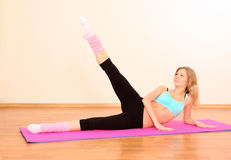 Young beautiful fitness girl Stock Photo