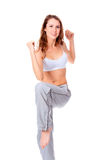 Young beautiful fitness woman Royalty Free Stock Images