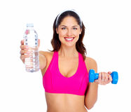 Young beautiful fitness woman. Royalty Free Stock Photo