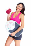 Young beautiful fitness woman. Stock Image