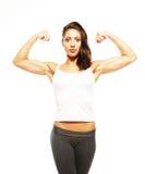 Young beautiful fitness woman Stock Photos