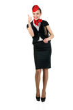 Young beautiful flight attendant Royalty Free Stock Photos