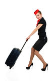 Young beautiful flight attendant Royalty Free Stock Photography