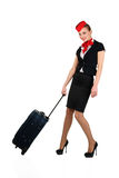 Young beautiful flight attendant Royalty Free Stock Images