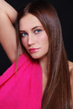 Woman in pink Royalty Free Stock Photography
