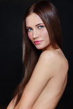 Slim beauty. Young beautiful fresh slim sexy smiling girl Royalty Free Stock Images