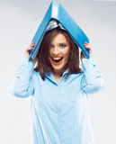 Young beautiful funny student girl. Stock Photography