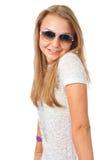The young beautiful girl Stock Photos