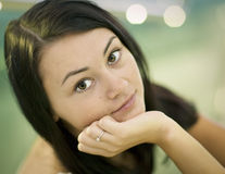 Young beautiful girl 25 years old Stock Images