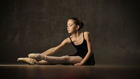 Young Ballerina Posing In Studio stock video