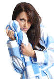 Young beautiful girl with bath towel Royalty Free Stock Image