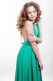 Young beautiful girl. With blond curly hair Stock Images