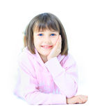 Young beautiful girl child smiles Stock Image