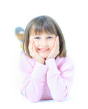 Young beautiful girl child smiles Royalty Free Stock Photos
