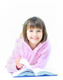 Young beautiful girl child smiles Stock Photo