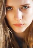 Young beautiful girl close up portrait. Young beautiful model portrait.  Outdoor shoot Stock Photos