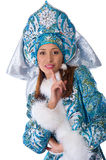Young beautiful girl in the costume of Snow Maiden Royalty Free Stock Images