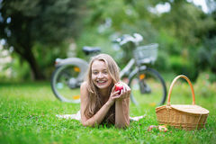 Young beautiful girl in the countryside Stock Photography
