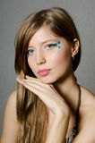 The young beautiful girl with a creative make-up Royalty Free Stock Photo