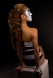 Young beautiful girl with creative make-up Stock Image