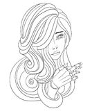 Young beautiful girl. Crosses fingers, hand like a mannequin Royalty Free Stock Image