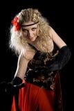 Young beautiful girl dancing spanish dance Stock Photography