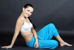The young beautiful girl is engaged in yoga Royalty Free Stock Images