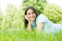 Young beautiful girl enjoyment Stock Image