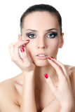 The young beautiful girl with a Evening make-up Royalty Free Stock Image