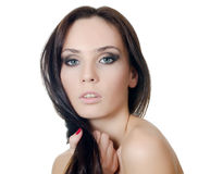 The young beautiful girl with a Evening make-up Royalty Free Stock Photo