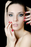 The young beautiful girl with a Evening make-up Stock Image