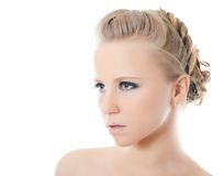 Young beautiful girl with Evening make-up Royalty Free Stock Images