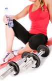 Young beautiful girl at the gym Royalty Free Stock Photos