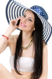 Young beautiful girl in a hat Royalty Free Stock Photography
