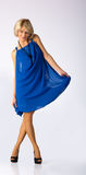 Young Beautiful Girl In Blue Dress Royalty Free Stock Images