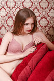 Young beautiful girl in lingerie Royalty Free Stock Image